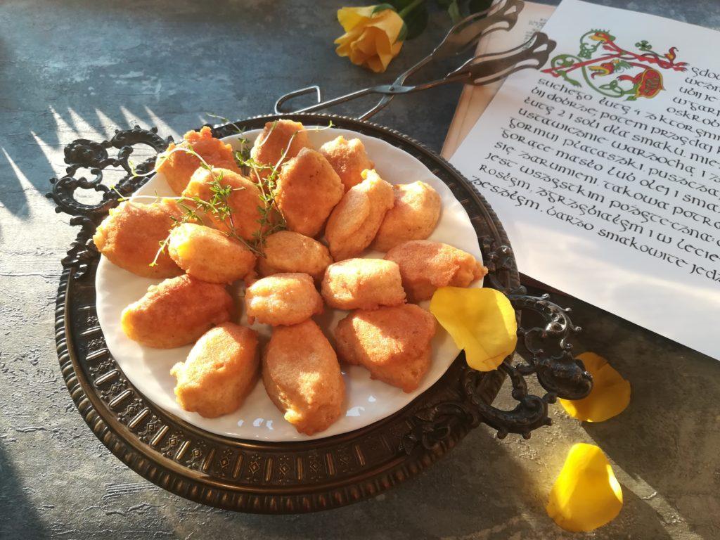 kluseczki żydowskie, kuchnia staropolska, kaligrafia gotowanie