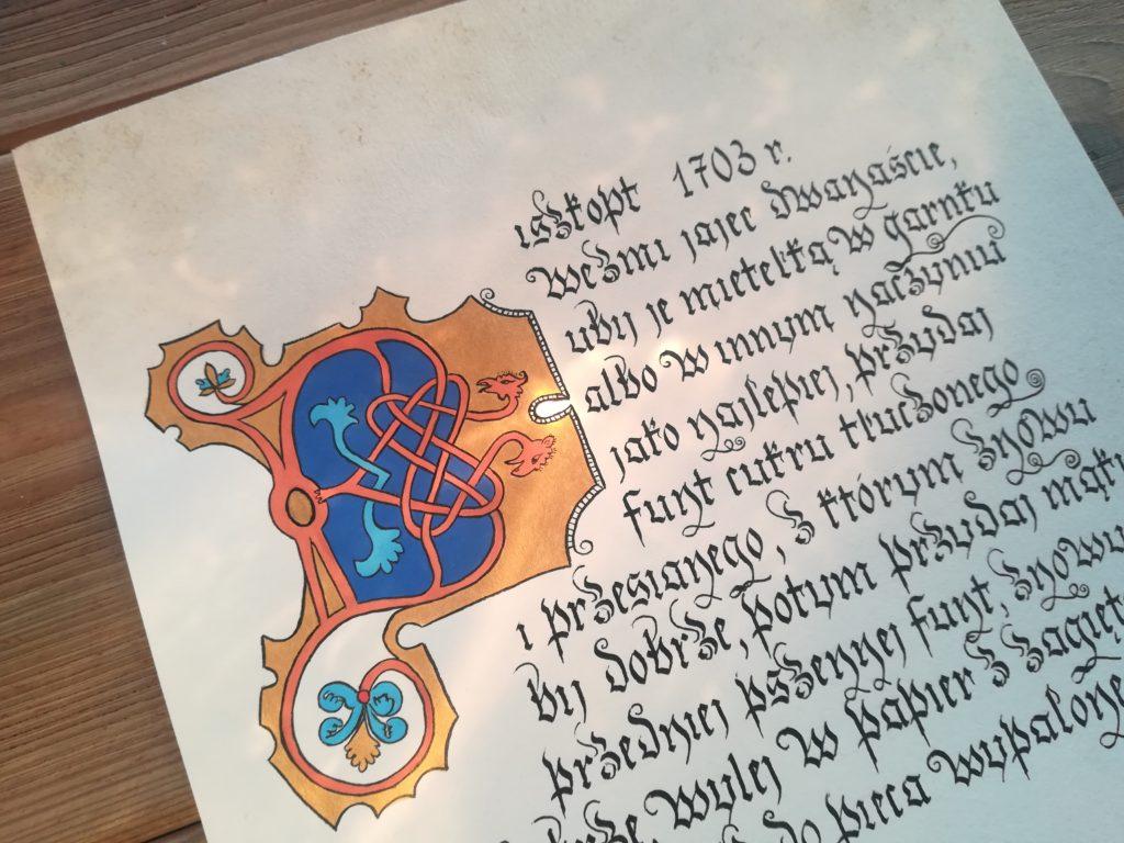 biszkopt, starodawny przepis na biszkopt, najstarszy przepis na biszkopt, kuchnia staropolska, biszkopt kaligrafia, kaligrafia małopolska, kaligrafia średniowieczna