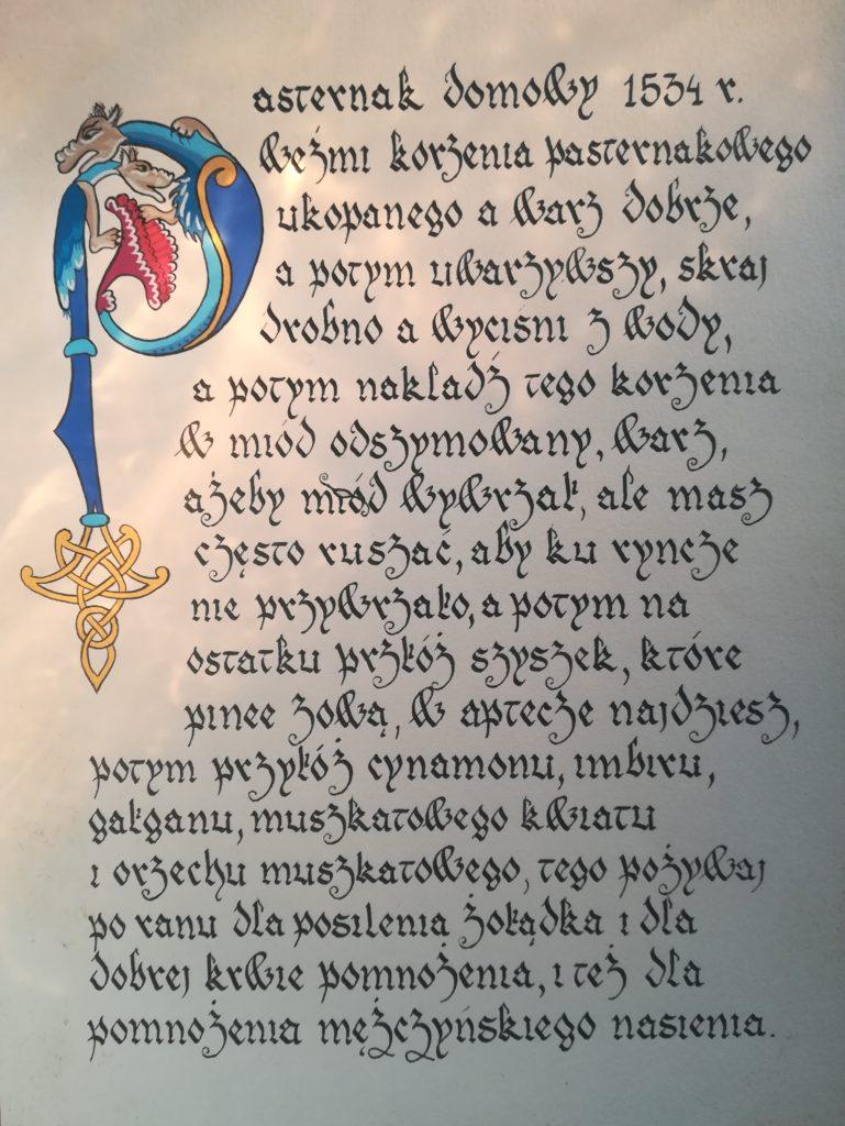 staropolski przepis na pasternak, pasternak kuchnia staropolska, pasternak z orzeszkami pinii