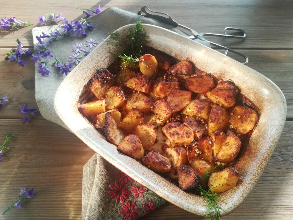 pieczone ziemniaczki, zupa grzybowa z pieczonymi ziemniakami, najlepsze pieczone ziemniaki