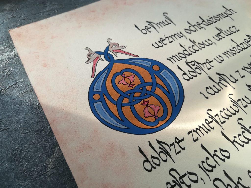 kaligrafia kulinarna, kaligrafia jedzenie, kaligrafia obermus, kaligrafia staropolska