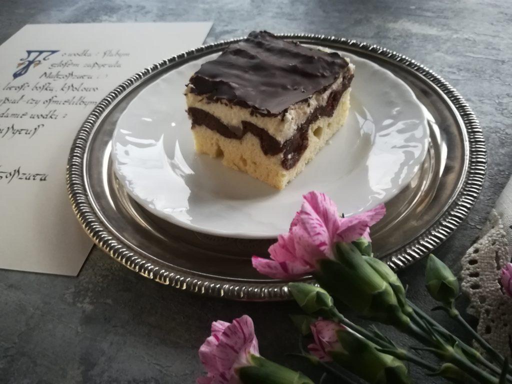 Fale Dunaju, ciasto z wiśniami, ciasto z gruszkami, ciasto ucierane, tradycyjne ciasta, kaligrafia ciasto