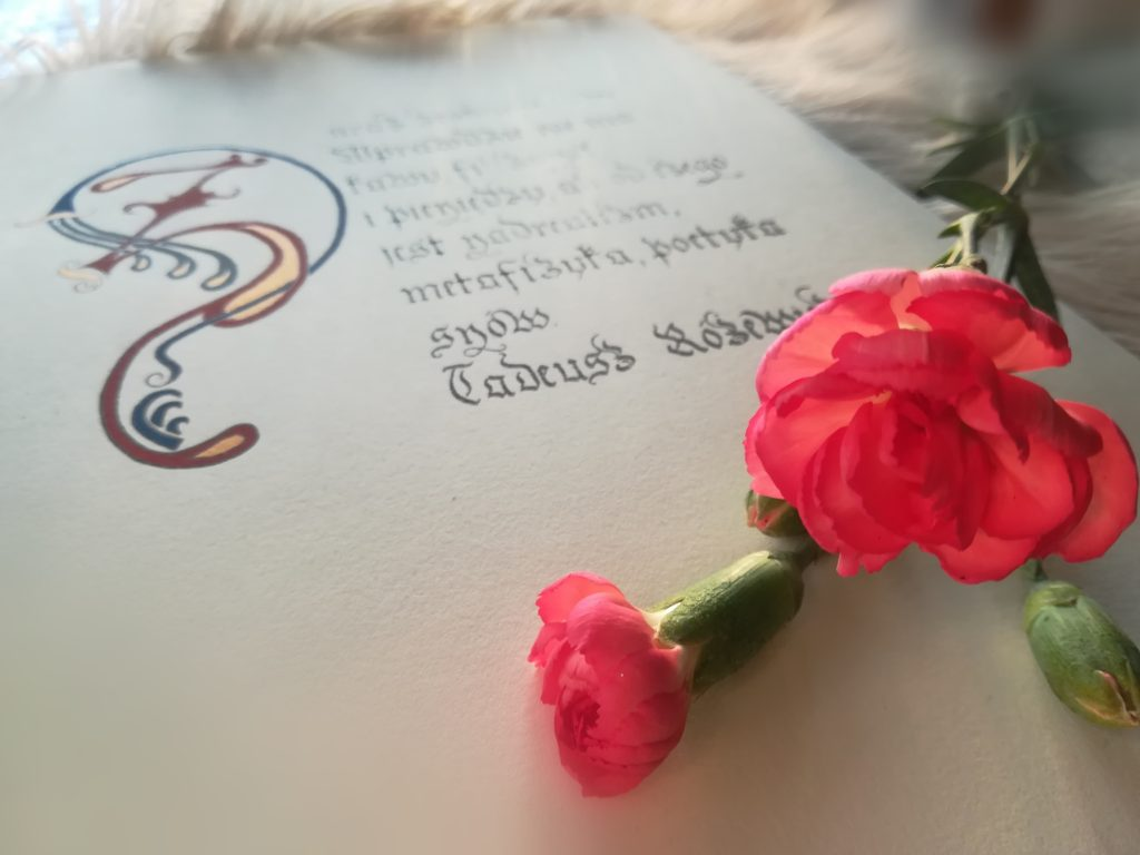 kaligrafia literacka, kaligrafia kulinarna, kaligrafia Tadeusz Różewicz