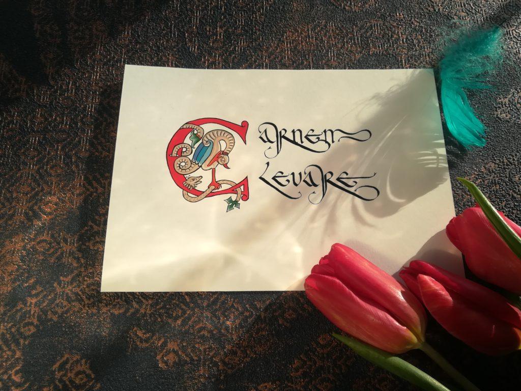 karnawał, zapusty, kaligrafia karnawałowa