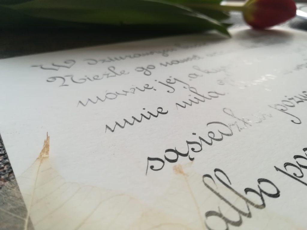 I love calligraphy, polish calligraphers, kaligrafia Wieliczka