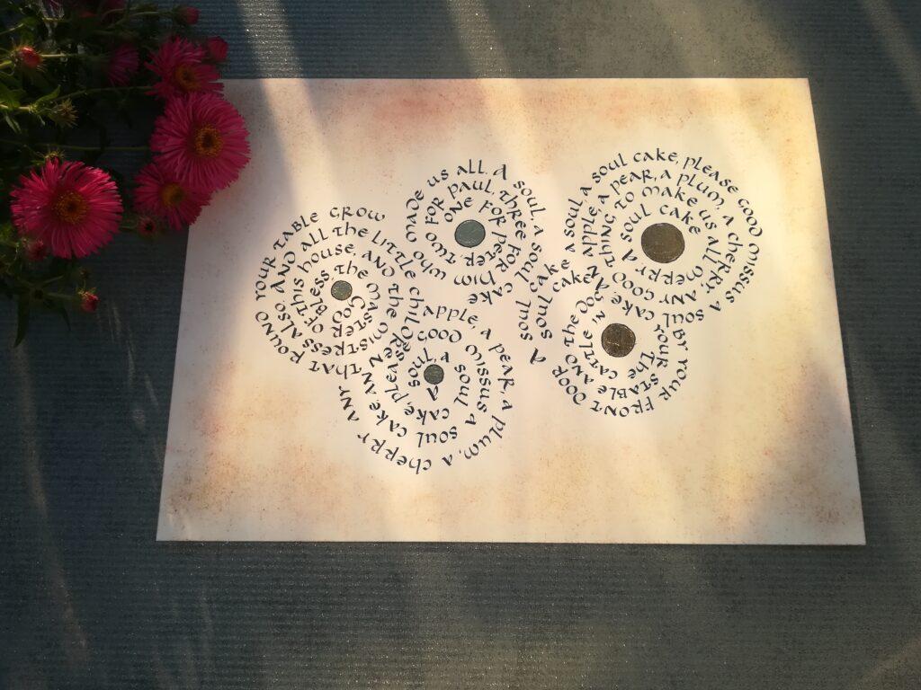 a soul cake kaligrafia, kaligrafia literacka, kaligrafia uncjała